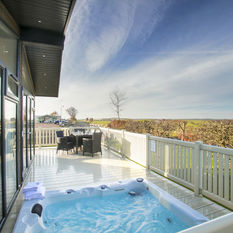 Hot Tub Lodges are situated for the best views.
