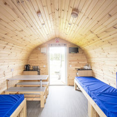 Inside Glamping Pod - all units sleep 5