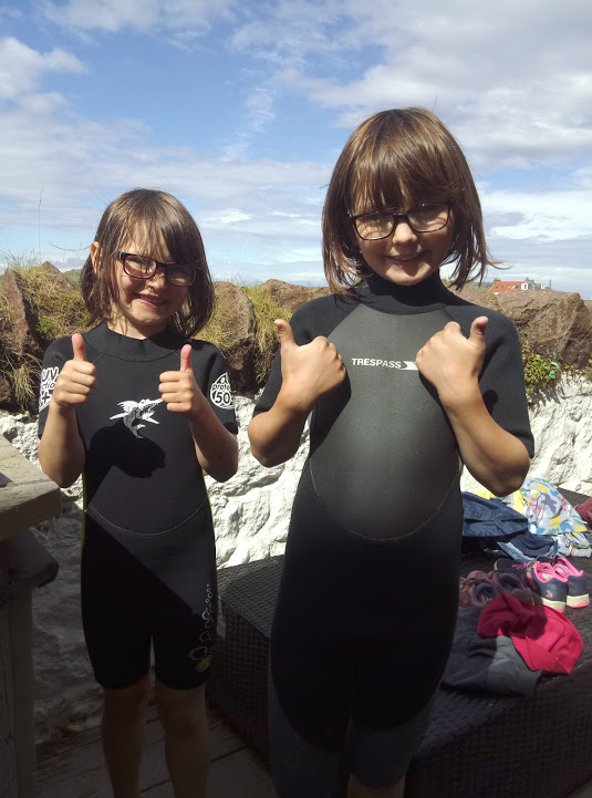 wetsuits at the ready