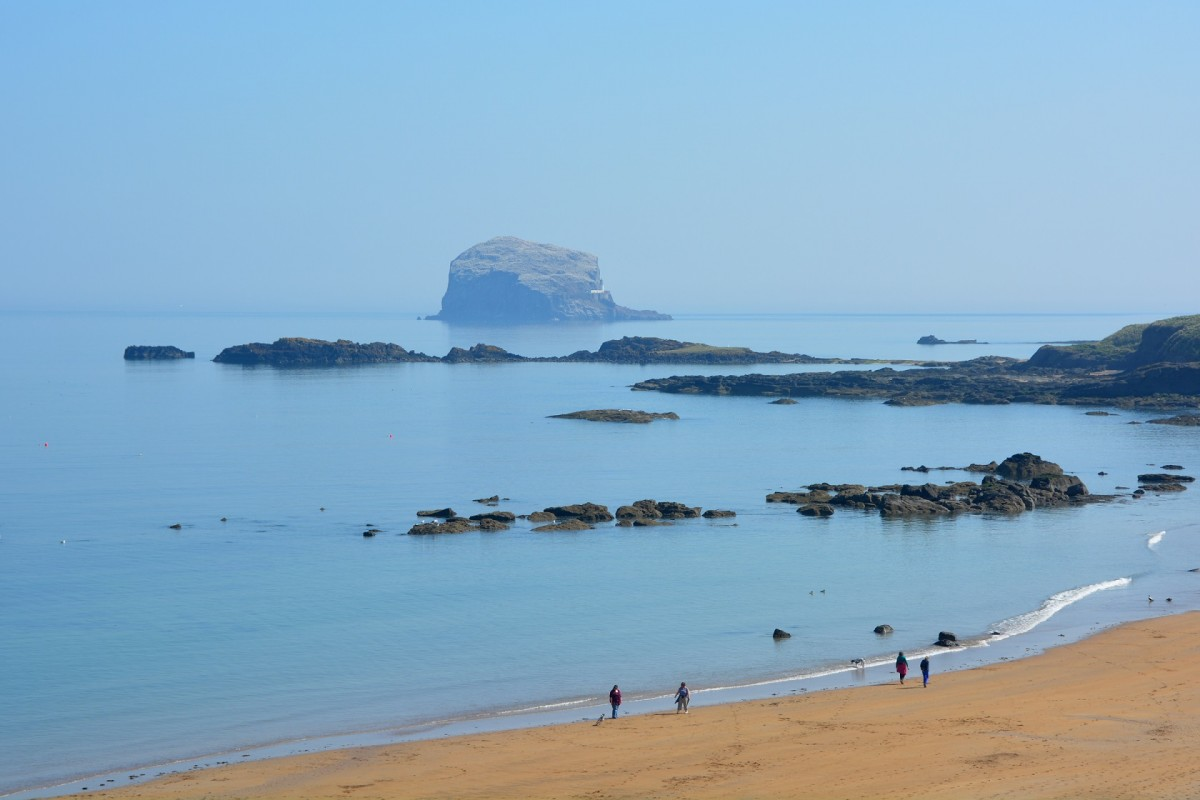 North Berwick Beach and Bass Rock